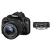 "Canon EOS 100D Digital SLR Camera, Black,  18MP, 3"" LCD Touch Screen, 40mm & 18-55mm Lens"