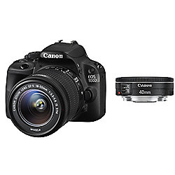 Canon EOS 100D SLR Camera Black 18-55mm IS STM, 40mm STM 18MP 3.0Touch LCD FHD