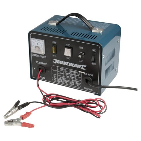 Silverline Battery Charger 12/24V 18/12A