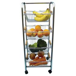 Apollo 4 Tier Chrome Vegetable Rack