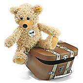 Steiff Charly Dangling Teddy Bear in Suitcase (28cm)