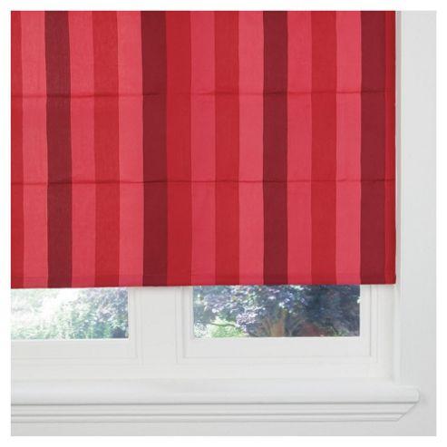 Hampton Stripe Lined Roman Blind 60x120cm Red