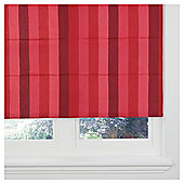 Hampton Stripe Lined Roman Blind 120x120cm Red
