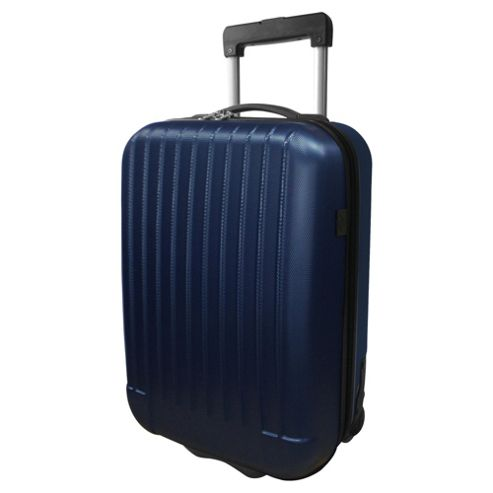 Tesco 2-Wheel Hard Shell Suitcase, Blue Medium