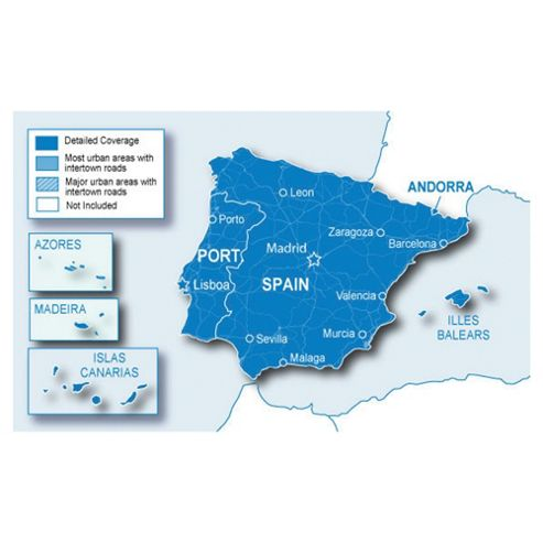 Garmin Spain and Portugal Maps microSD/SD card