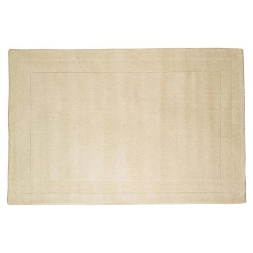 Tesco Rugs Plain Wool Rug 160 x 230cm, Cream