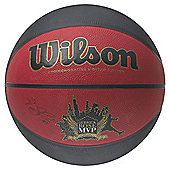 Wilson Derrick Rose MVP Size- 7 Basketball Black/Red