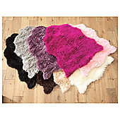 Tesco Rugs Faux Sheepskin Rug Single Black