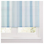 Hampton Stripe Lined Roman Blind 90x160cm Duck Egg