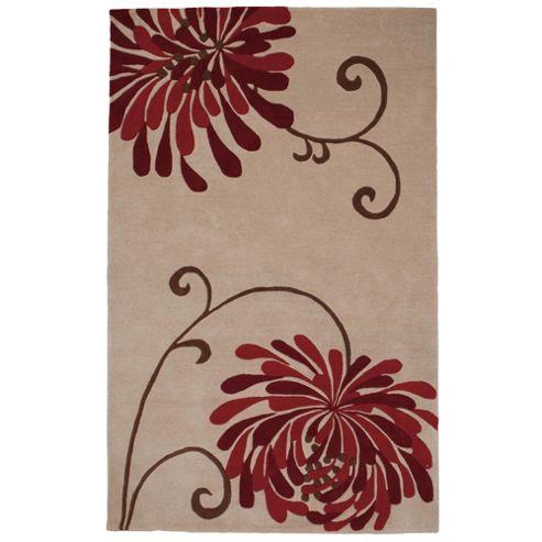 Tesco Rugs Chrysanthemum Rug Claret 150X240Cm