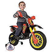 Injusa Cross Cross CR Battery Operated Ride-On Motorbike with Helmet