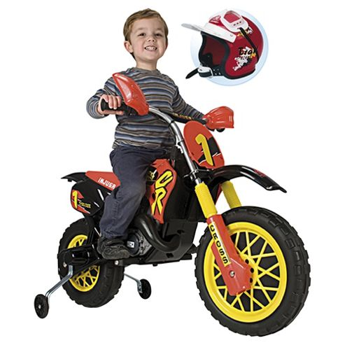 Injusa Cross CR Motorbike Battery Operated Ride-On with Helmet
