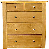Home Zone Furniture Lincoln 2 Over 3 Drawer Chest