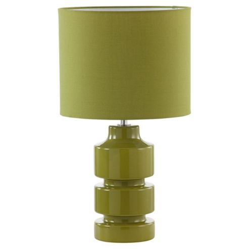 Tesco Lighting Retro Ceramic Table Lamp, Olive