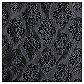 Damask Flock Lined Roman Blind 90x160cm Black