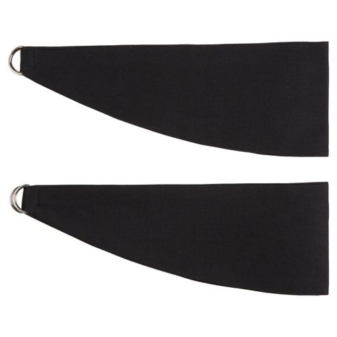 Tesco Plain Canvas TiebacKingsize, Black