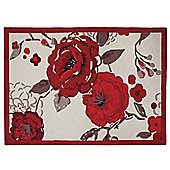 Tesco Rugs Jasmine Blossom Rug Red 150X240Cm
