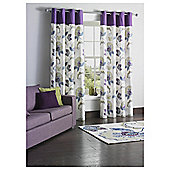 Tesco Marrakesh Print Lined Eyelet Curtains - Plum