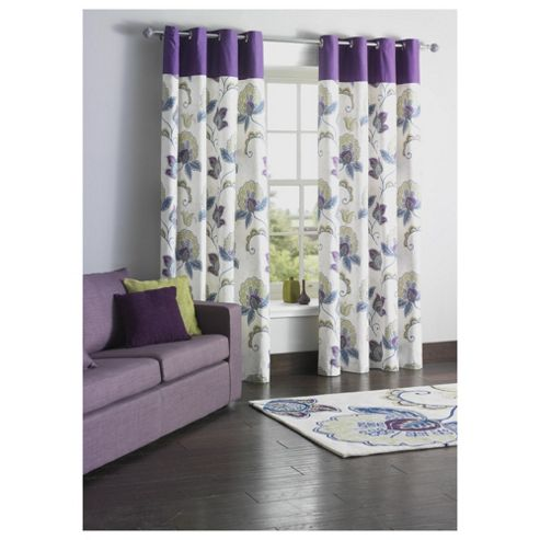 Tesco Marrakesh Print Lined Eyelet Curtains W163xL229cm (64x90