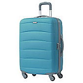 Samsonite American Tourister Curacao 4-Wheel Hard Shell Suitcase, Blue Medium