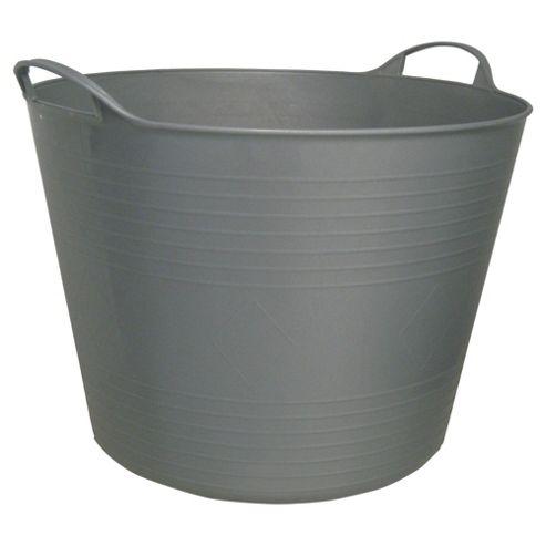 Tesco 42L Flexi Tub Silver