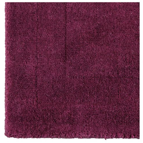 Tesco Plain Wool Runner, Plum 70x200cm