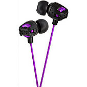 JVC Xtreme Xplosives In-Ear Canal Headphones Violet HAFX101