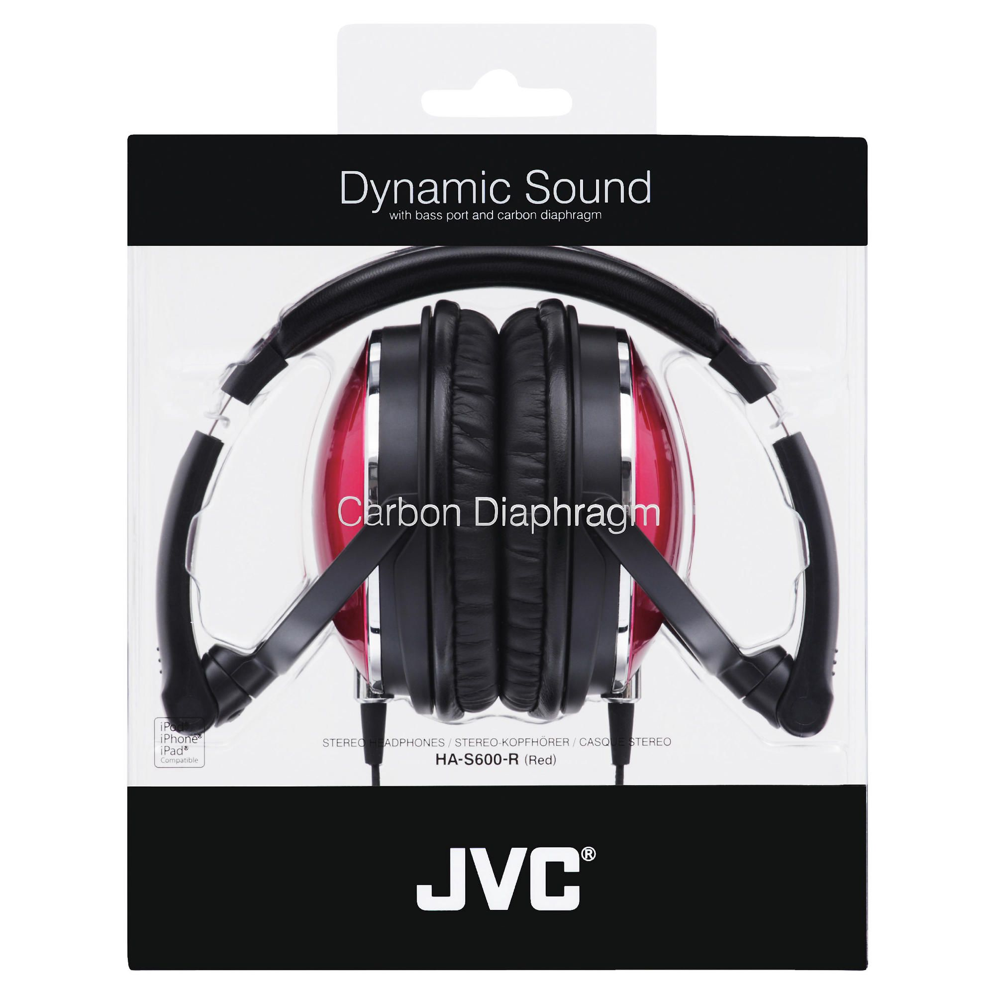 JVC HA-S600 Overhead headphones, Red
