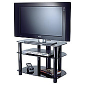 Alphason Sona Series Alpha TV Stand - Black - 32""