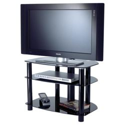 Alphason Sona Series Alpha TV Stand - Black - 32