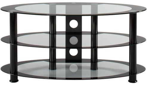 Alphason Atoll Oval Glass Universal TV Stand