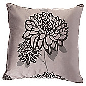 Tesco Cushions Amelia Flock Cushion, Charcoal / Pewter
