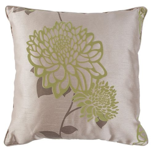 Tesco Cushions Amelia Flock Cushion, Green / Natural