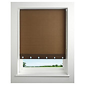 Eyelet roller blind 90cm Brown