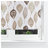Watercolour Leaf Lined Roman Blind 90x120cm Natural