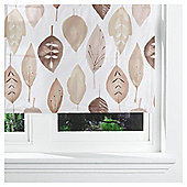 Watercolour Leaf Lined Roman Blind 120x160cm Natural