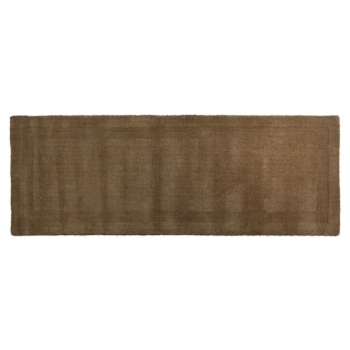Tesco Plain Wool Runner, Mocha 70x200cm