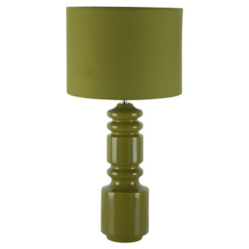 Tesco Lighting Totem Ceramic Table Lamp, Olive