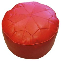 Moroccan Star Footstool, Red