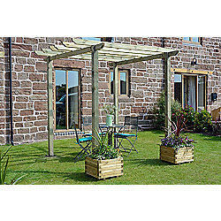 Cranborne Pergola - Includes Metcrete for fixing posts into the ground
