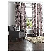 "Tesco Amelia Flock Lined Eyelet Curtains W162xL183cm (64x72""), Charcoal/Pewter"