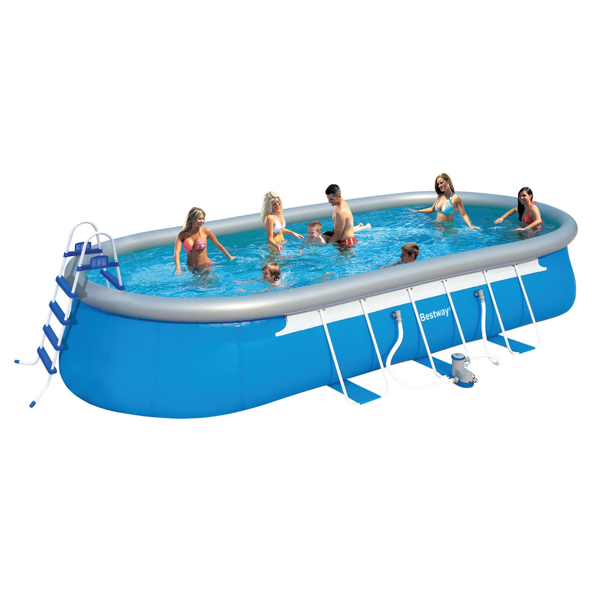 Bestway 24ft Oval Fast Set Swimming Pool at Tesco Direct