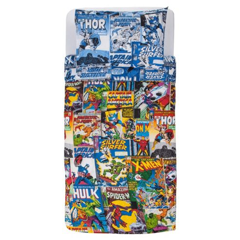 Marvel Comic Heroes Single Duvet Set