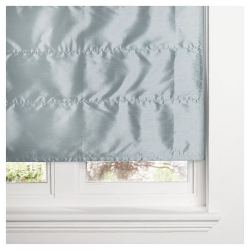 Faux Silk Lined Roman Blind 90x120cm Duck Egg