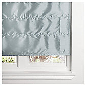 Faux Silk Lined Roman Blind 90x160cm Duck Egg