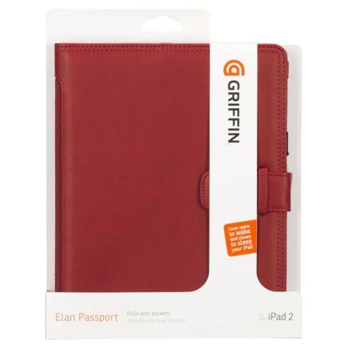 Griffin Elan Passport for Apple iPad 3/iPad 2 - Red