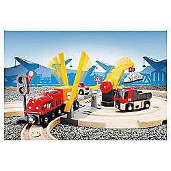 Brio Road and Rail Crane Set Wooden Toy