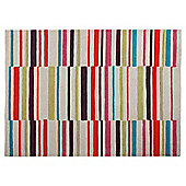 Tesco Rugs Multicolour Stripe Rug 120X170Cm