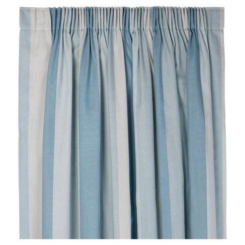 Tesco Hampton Stripe Pencil Pleat Unlined Curtains W168xL137cm (66x54