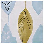 "Tesco Watercolour Leaf Lined Eyelet Curtains W167xL137cm (66x54""), Soft Teal"